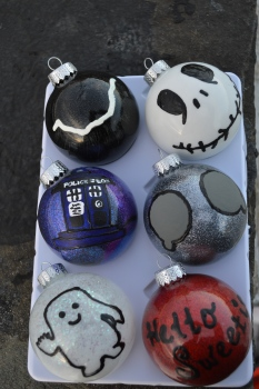 Glittery and Geeky Christmas Ornaments